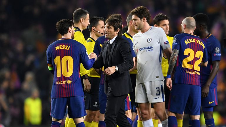 Chelsea were knocked out of the Champions League by Barcelona on Wednesday