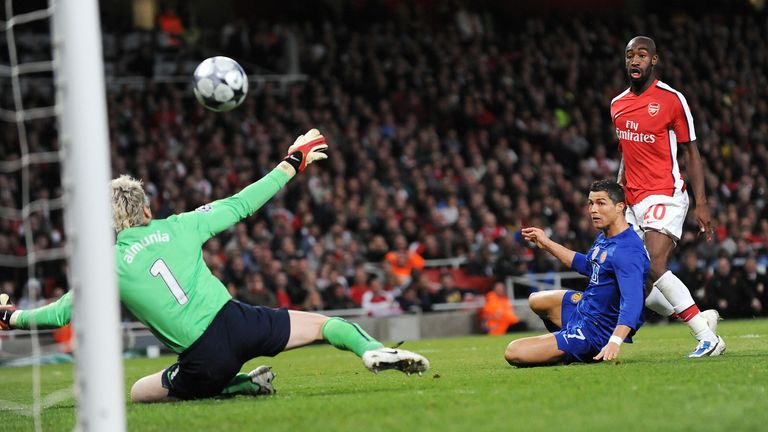 A Cristiano Ronaldo double sent United into the 2009 final