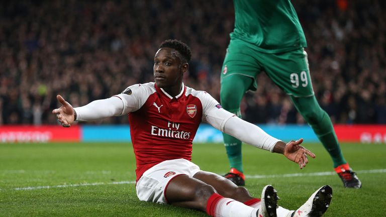 Danny Welbeck will be available for Arsenal's Europa League quarter-final match against CSKA Moscow