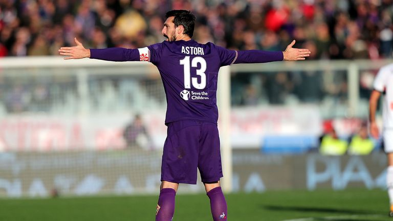 Fiorentina have retired the No 13 shirt formerly worn by captain Davide Astori