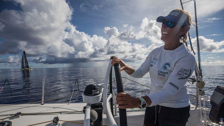 Caffari on board Turn the Tide on Plastic in February, 2018.