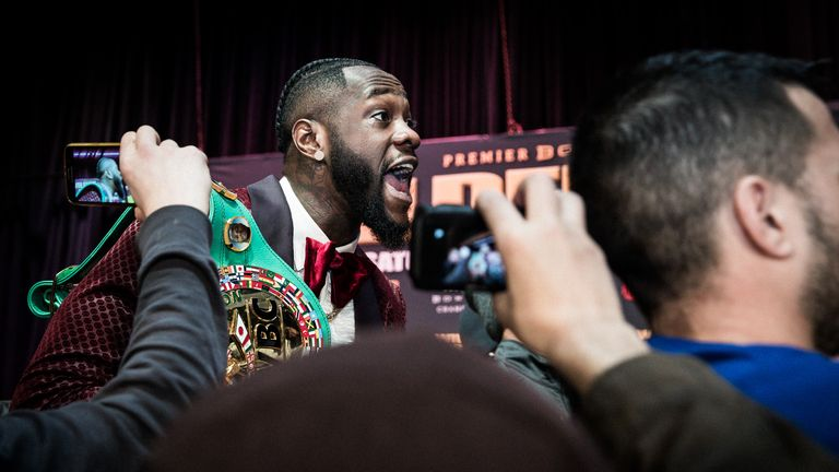Wilder has vented his anger at Joshua on social media