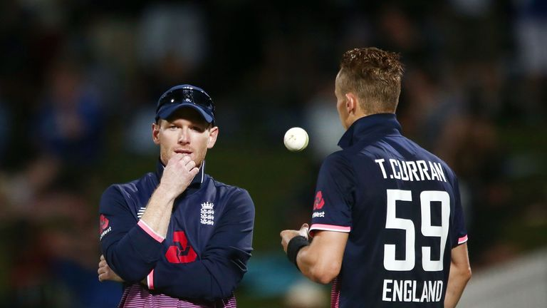 Eoin Morgan backed Tom Curran to bowl the 49th over and his faith was repaid