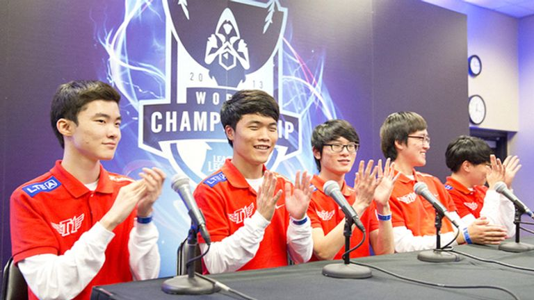 The 2013 World Champions. Of these five players, only one remains on the roster today. The rest have had their playstyles invalidated by the constantly changing game (credit: Riot Games)