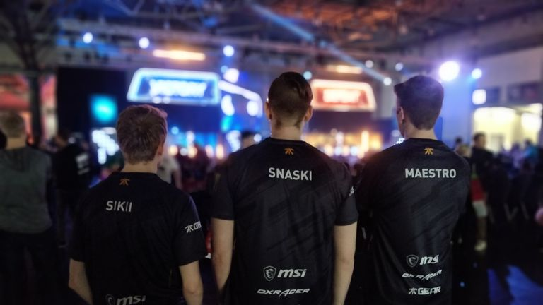 Fnatic's fab three: Sikii, Snaski and Maestro (credit: DreamHack Leipzig)