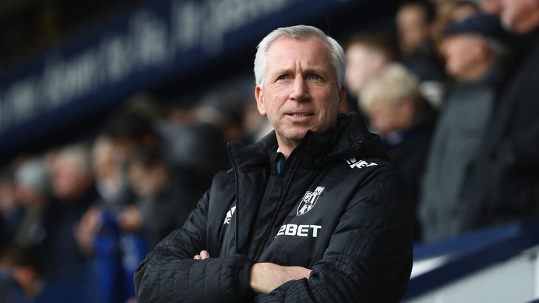 Alan Pardew faces a battle to keep West Brom in the Premier League
