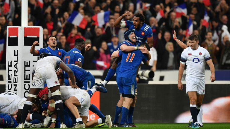 England ceded the title to Ireland after failing to beat France