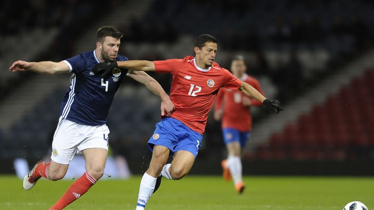 Grant Hanley made his first start for Scotland since 2016 in the loss to Costa Rica