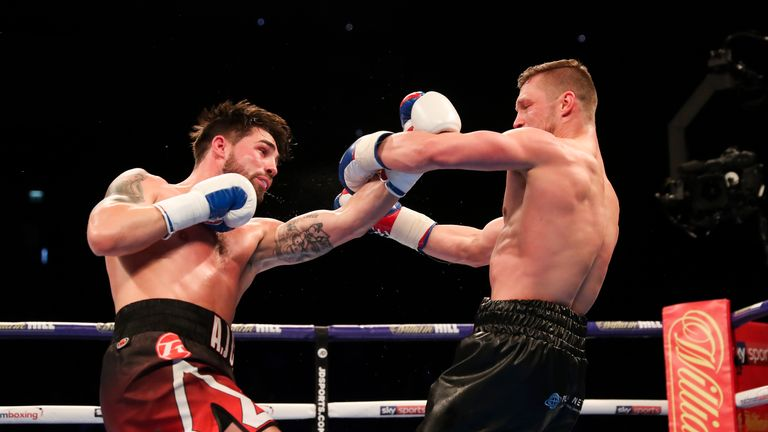 Jamie Cox showed his vicious power having lost out to world champion George Groves in October