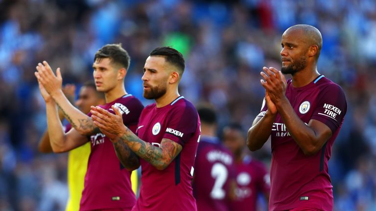 John Stones, Nicolas Otamendi and Vincent Kompany will vie for a starting spot at centre-back along with Aymeric Laporte