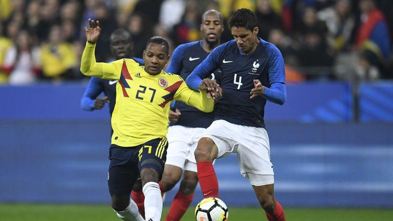 Jose Izquierdo in action against France