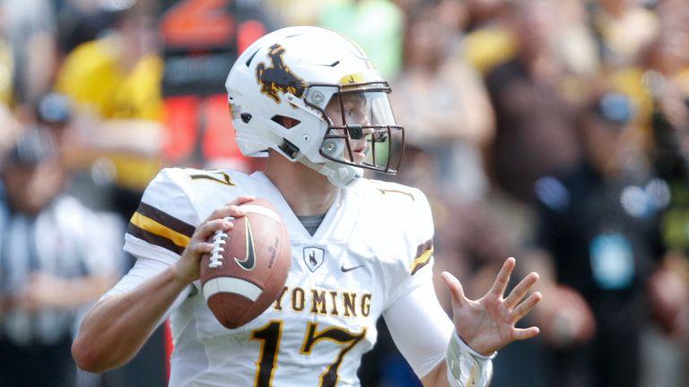 Wyoming quarterback Josh Allen impressed in his Combine throwing session