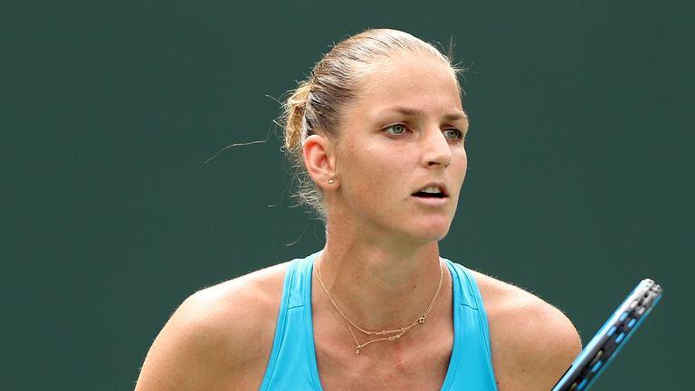 Karolina Pliskova ended the run of junior US Open champion Anisimova