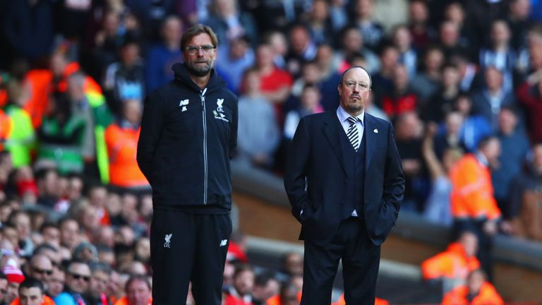 Jurgen Klopp comes face to face with Rafa Benitez this weekend