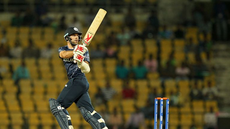 Kyle Coetzer guided his Scotland side into the Super Sixes in Zimbabwe, hitting a six to seal victory over Nepal
