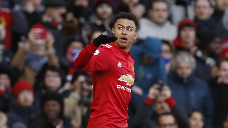 Jesse Lingard helped United knock Brighton out of the Cup