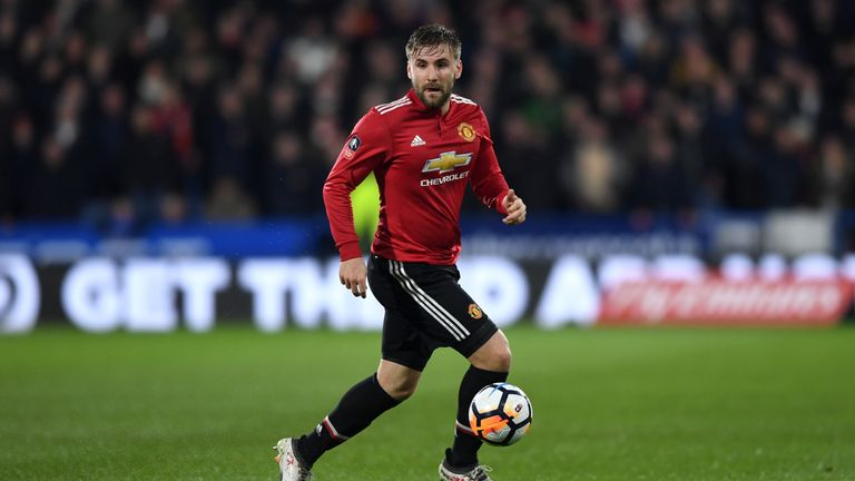 Luke Shaw was withdrawn at half-time against Brighton