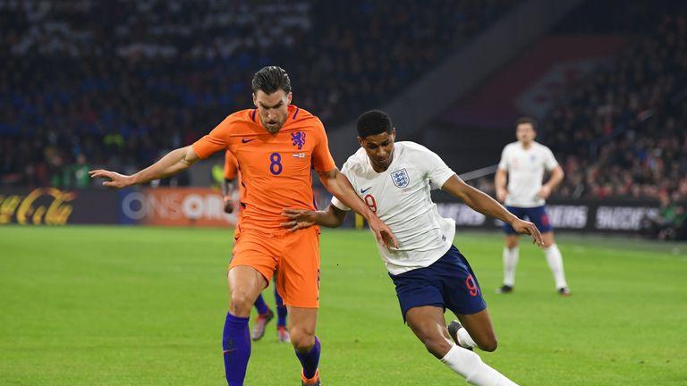 Marcus Rashford was denied a penalty in the second half