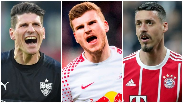 Mario Gomez, Timo Werner and Sandro Wagner are vying for a starting spot