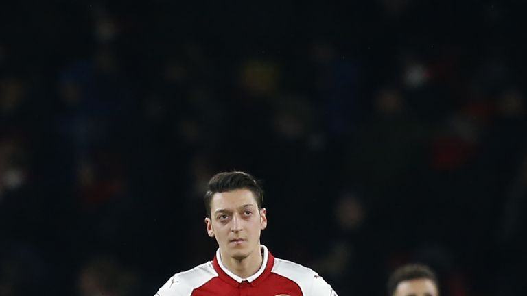 Mesut Ozil may not return to action for Arsenal until next season
