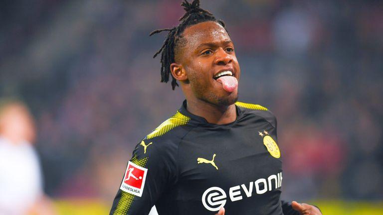 Batshuayi has scored nine goals in his first 14 games for Dortmund