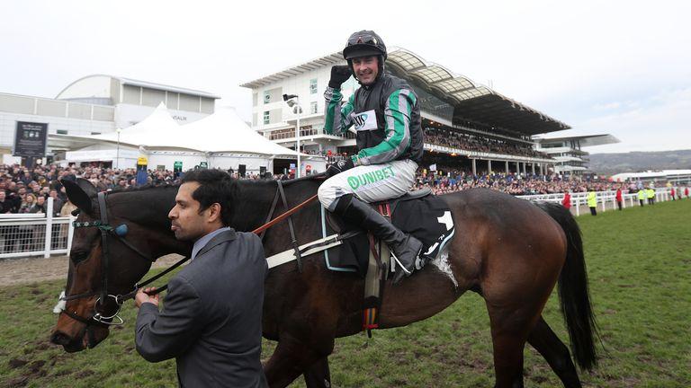 Nico de Boinville celebrates Altior's stunning win