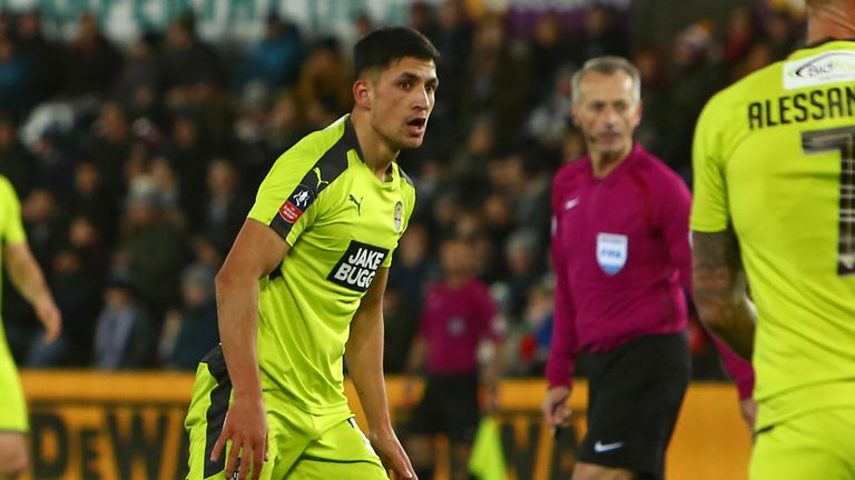Noor Husin has scored two goals in 11 games for Notts County
