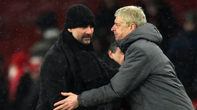 Pep Guardiola got the better of Wenger in the Carabao Cup final and followed it up with a league success at the Emirates days later