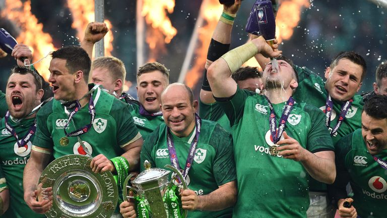 4b546ceee17 Ireland celebrate their Six Nations, Triple Crown and Grand Slam successes