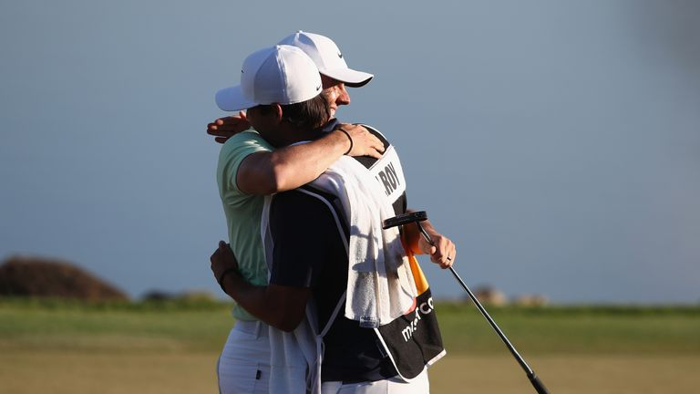 McIlroy played alongside Justin Rose during the final round on Sunday