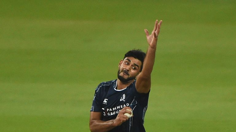 Safyaan Sharif claimed a five-wicket haul but Scotland fell agonisingly short of victory