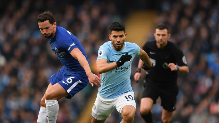 Sergio Aguero remains a doubt for Manchester City's game against Everton on Saturday