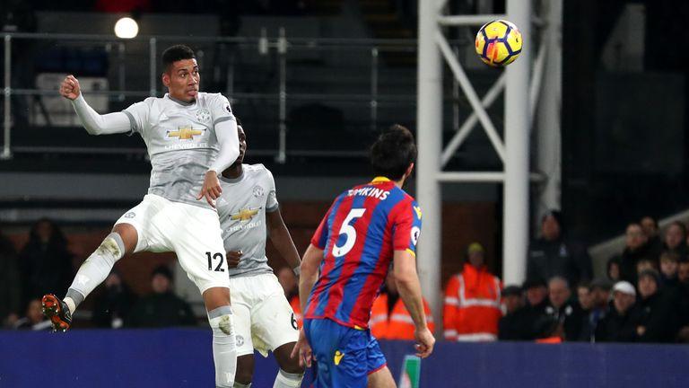 Smalling's header started United's second-half comeback