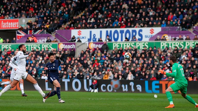 Heung-Min Son saw an effort ruled out for offside