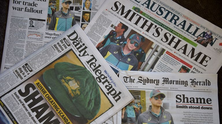 Australian media have slammed the national side since Saturday's events