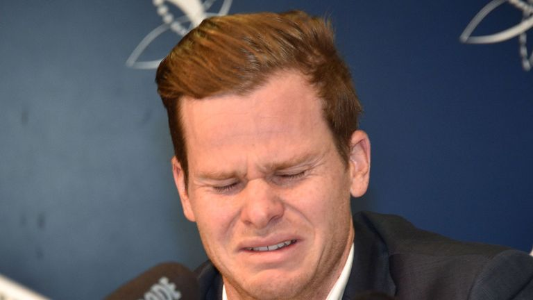 Former Australia captain Steve Smith was in tears after his ball-tampering involvement