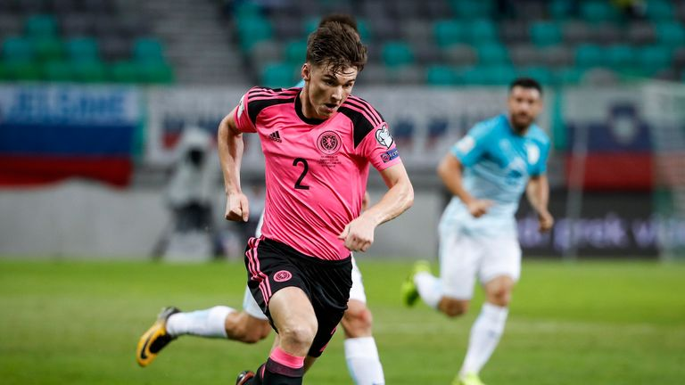 Kieran Tierney is a Scotland international with nine caps