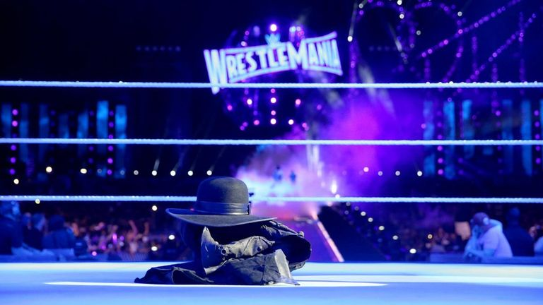 The Undertaker left his hat, coat and gloves in the ring after last year's WrestleMania loss to Roman Reigns