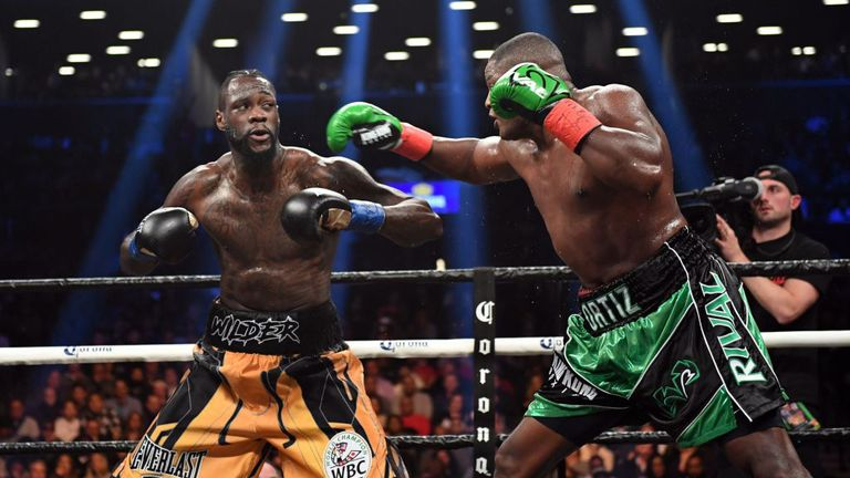 Ortiz had Wilder in all sorts of trouble in the seventh