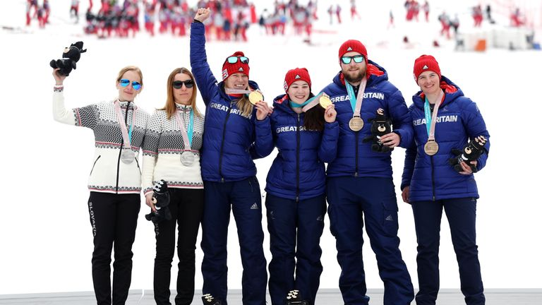 Their was joy for two Great Britain pairs in the women's visually impaired slalom