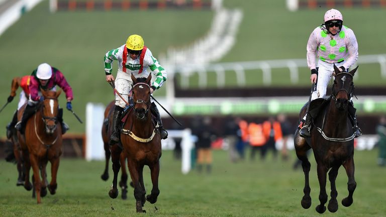 Benie Des Dieux and Ruby Walsh win the OLBG Mares' Hurdle