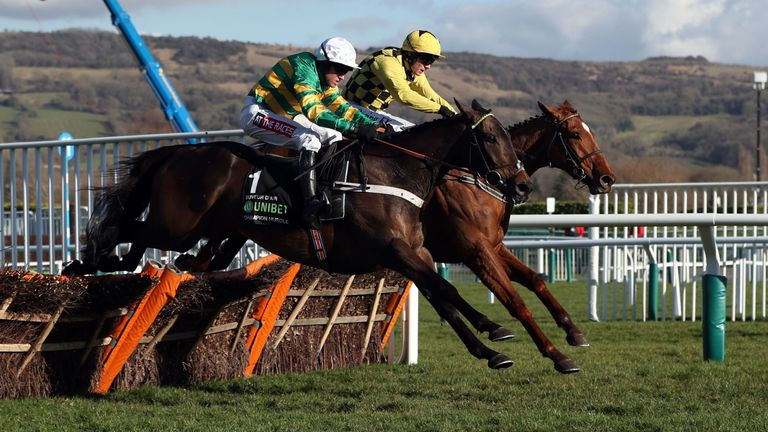 Buveur D'Air and Melon fly the last in the Unibet Champion Hurdle