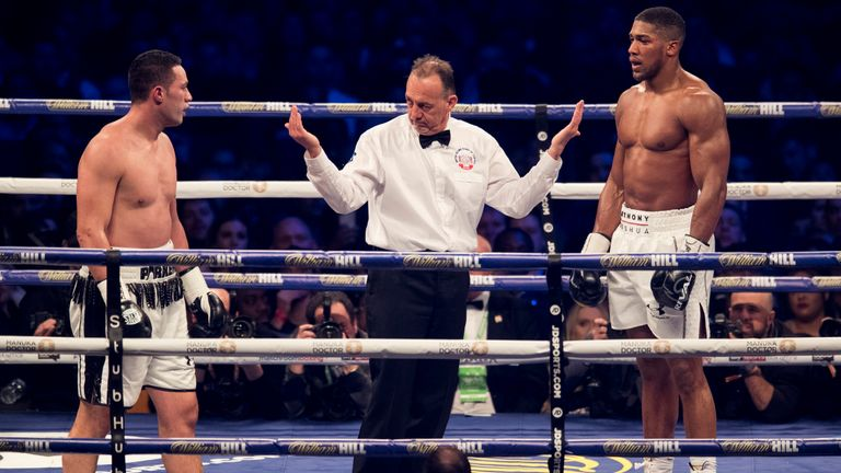 Higgins criticised display of referee Giuseppe Quartarone in Anthony Joshua defeat