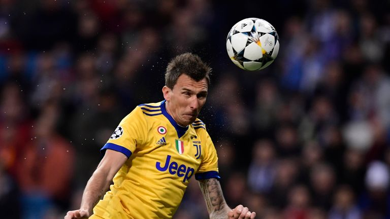 Mandzukic opens the scoring for Juventus at the Bernabeu