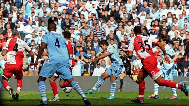 Aguero scored the title-winning goal on the final day of the 2011-12 season
