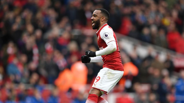 Alexandre Lacazette scored a late penalty in Arsenal's 3-0 win over Stoke