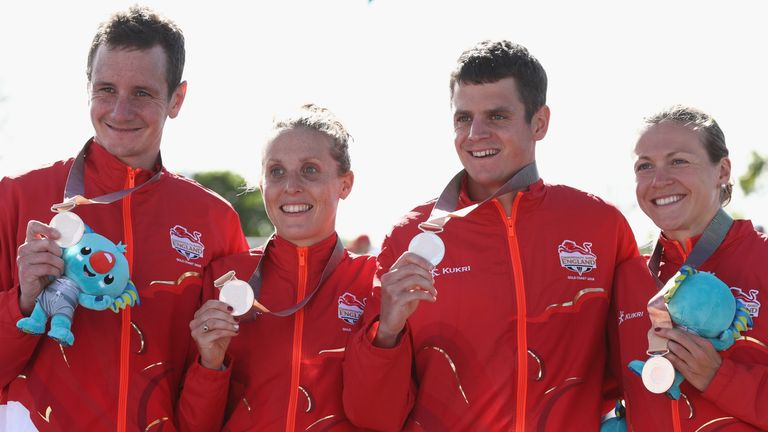 Alistair and Jonny Brownlee, Jess Learmonth and Vicky Holland had to settle for silver in the triathlon mixed team relay