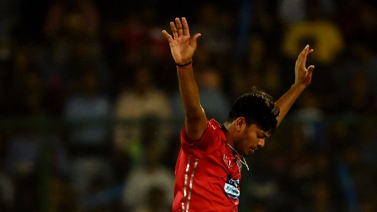 Ankit Rajpoot, of Kings XI Punjab, impressed in the IPL (Credit: AFP)