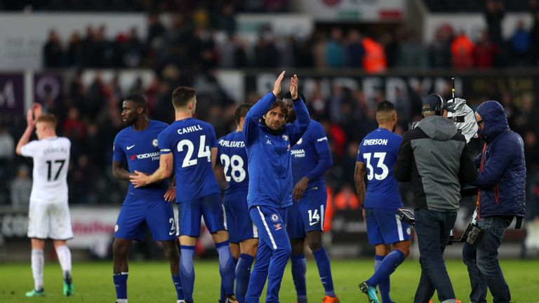 Chelsea boss Antonio Conte has led his side to three consecutive league wins