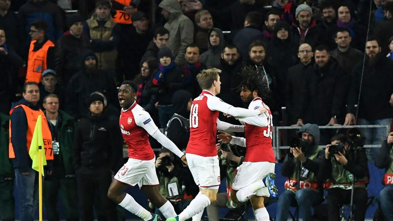 Danny Welbeck scored the goal which killed off CSKA Moscow's fightback
